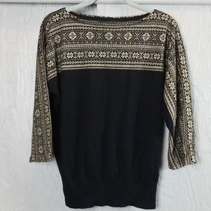 LAUREN. RALPH LAUREN. black and gold sweater